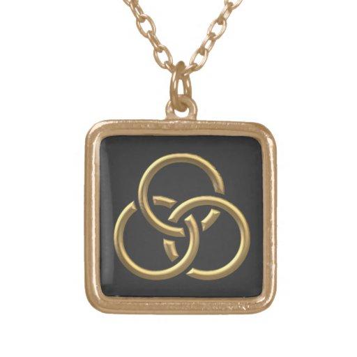 """Anillos """"tridimensionales"""" de oro de la trinidad pendientes personalizados"""
