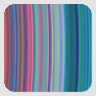Anillos ultravioletas pegatina cuadrada
