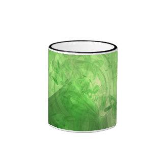 Anillos verdes taza de dos colores