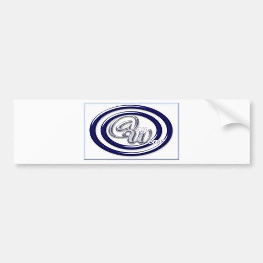 anillos w-azules AZULES DE CRISTAL del logotipo @n Etiqueta De Parachoque
