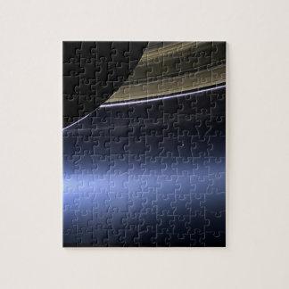 anillos wispy azules de Saturno Rompecabeza