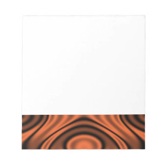 Anillos y ondulaciones anaranjados blocs de notas