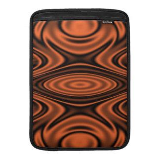 Anillos y ondulaciones anaranjados funda macbook air