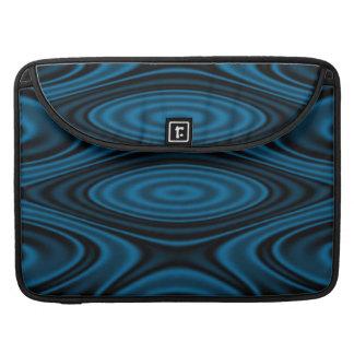 Anillos y ondulaciones azules funda para macbooks