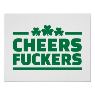 Anima el día de St Patrick de los fuckers Posters