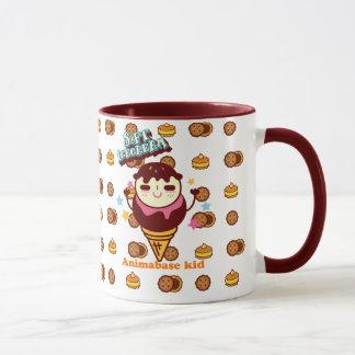 Animabase soft icecream cookie kid mug