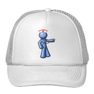 Animación del icono del oficio de enfermera gorras de camionero