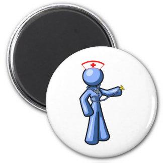 Animación del icono del oficio de enfermera imanes para frigoríficos