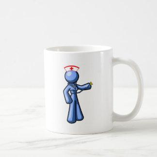 Animación del icono del oficio de enfermera taza de café
