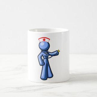 Animación del icono del oficio de enfermera tazas