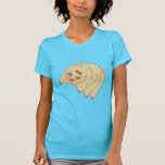 Animado lindo del oso del agua tardígrado camisetas