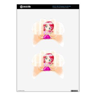 Animado lindo Manga Chibi de Cindy colorido Mando Xbox 360 Skin