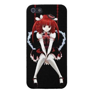 Animado Lolita gótico - en negro iPhone 5 Protector