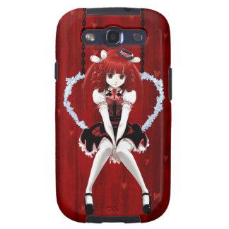 Animado Lolita gótico - en rojo Galaxy S3 Coberturas
