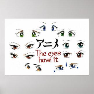 Animado Los ojos lo tienen Posters