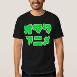 Animado Otaku (letras de las katakanas) Playera