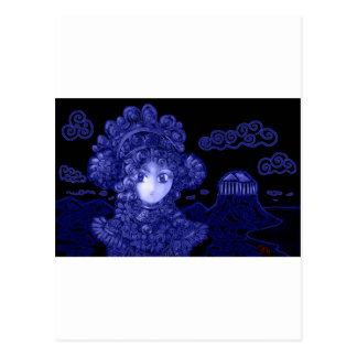 Animado/princesa gótica oscura de Manga Postales
