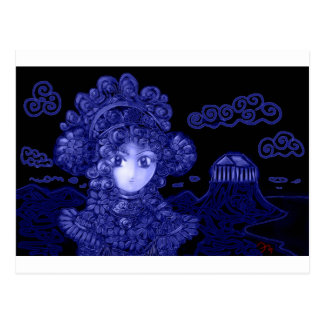 Animado/princesa gótica oscura de Manga Tarjeta Postal