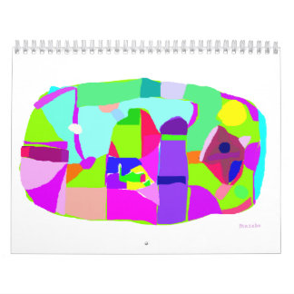 Animado seco de los colores de la sed de la arena calendarios de pared
