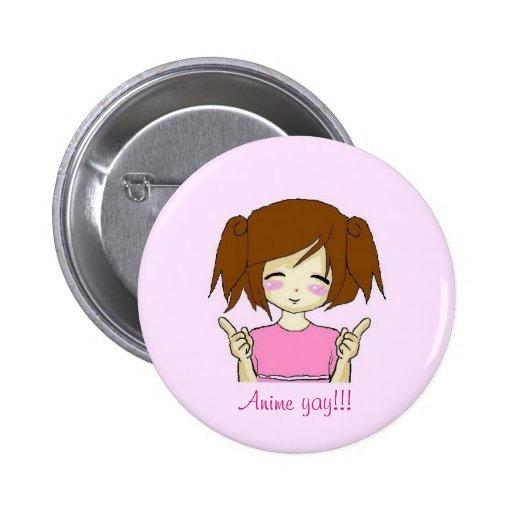 ¡Animado yay!! botón Pin