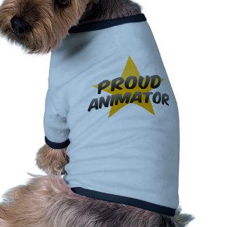 Animador orgulloso camisetas de perro