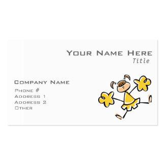 Animadora ambarina amarilla tarjetas de visita