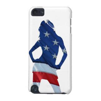 Animadora americana en cualquier color funda para iPod touch 5G
