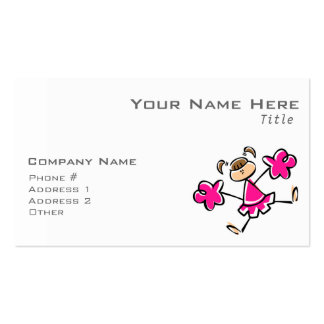Animadora de las rosas fuertes tarjetas de visita