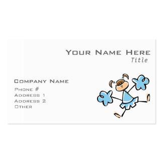 Animadora de los azules cielos tarjetas de visita