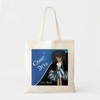 Animadora del azul de la diva de la alegría bolsa de mano