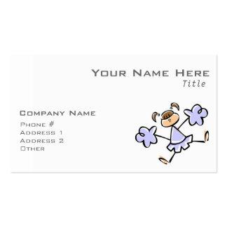 Animadora del azul de la lavanda tarjetas de visita