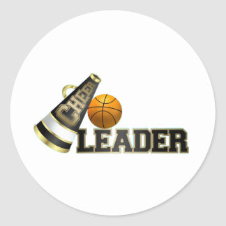 Animadora del baloncesto pegatina redonda