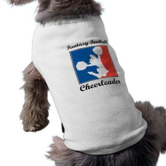 Animadora del fútbol de la fantasía camisetas mascota