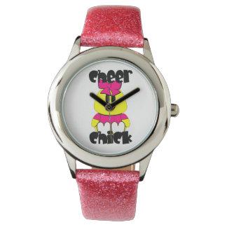 Animadora del polluelo de la alegría relojes de pulsera