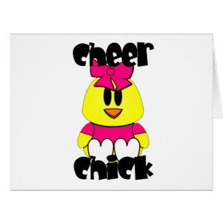 Animadora del polluelo de la alegría tarjeta de felicitación grande