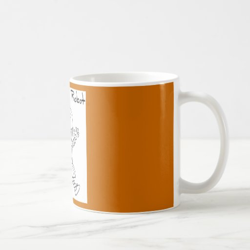 Animadora del robot taza de café