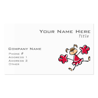 Animadora del rojo carmesí tarjetas de visita