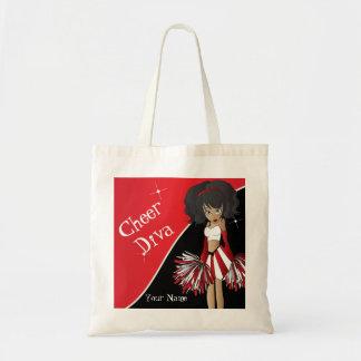 Animadora del rojo de la diva de la alegría bolsa tela barata