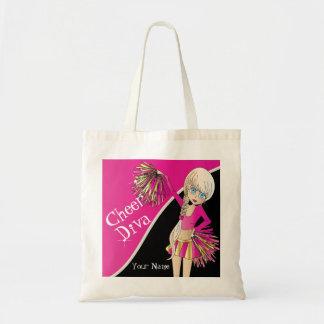 Animadora del rosa de la diva de la alegría bolsa tela barata