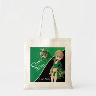 Animadora del verde de la diva de la alegría