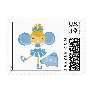 Animadora en azul sello