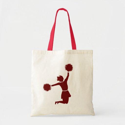 Animadora en bolso de compras de la lona de la sil bolsa