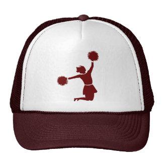 Animadora en gorra del club del equipo de deportes