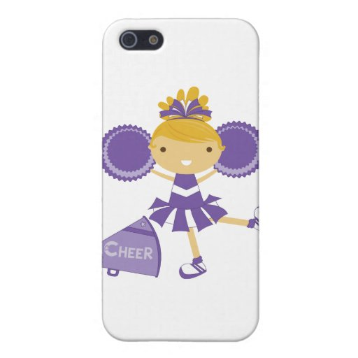 Animadora en púrpura iPhone 5 protector