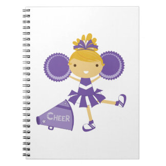 Animadora en púrpura libro de apuntes