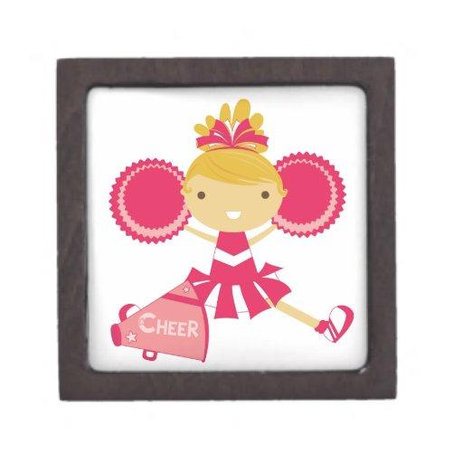 Animadora en rojo caja de regalo de calidad