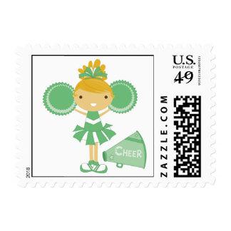 Animadora en verde sellos