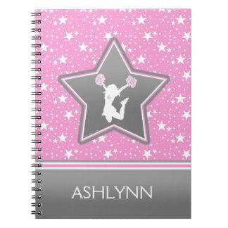 Animadora entre las estrellas en rosa con SU Libreta Espiral