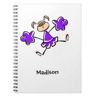 Animadora púrpura violeta cuaderno