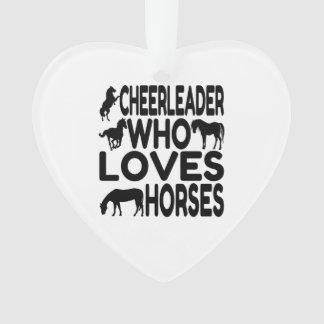 Animadora que ama caballos